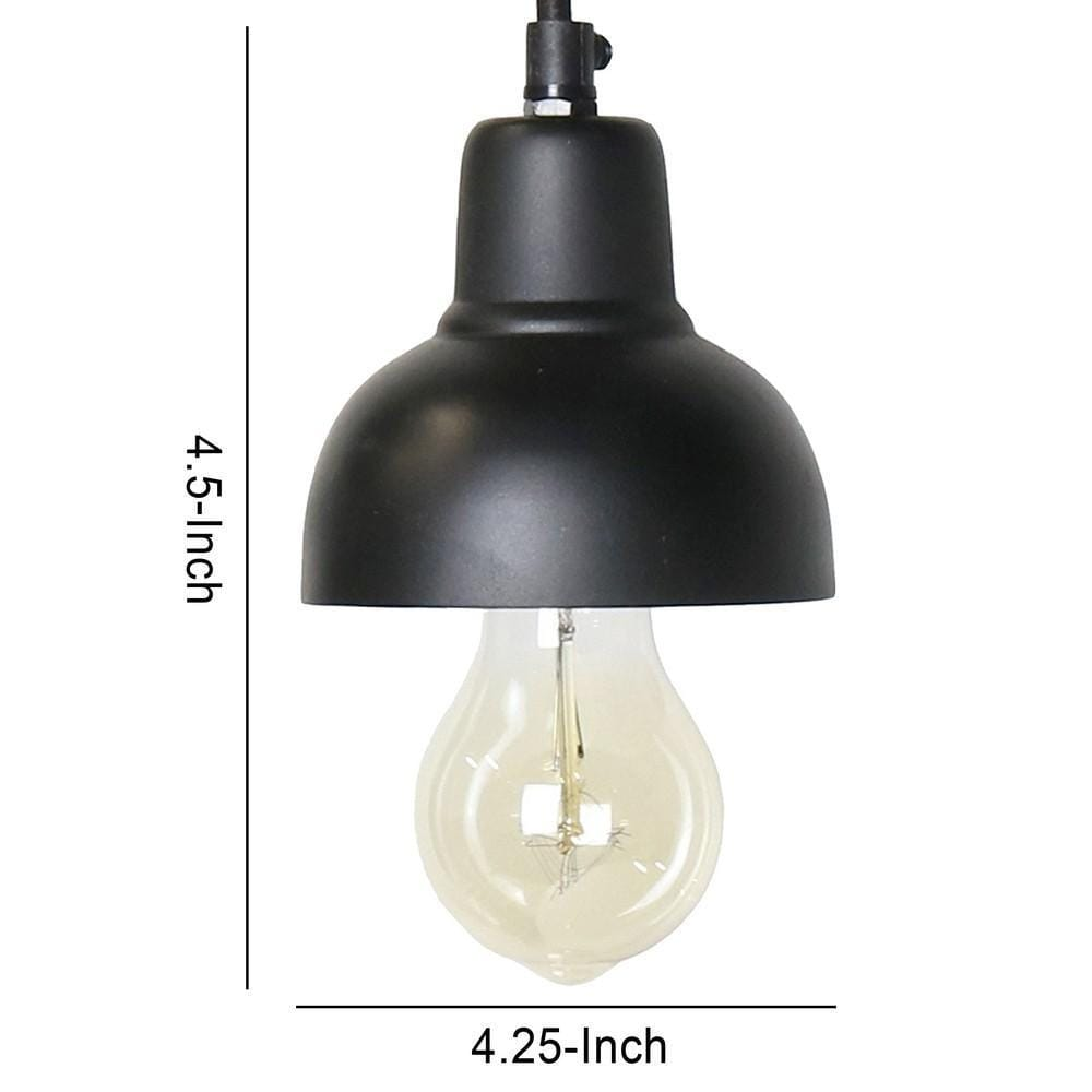 black pendant light industrial