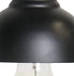 mini half dome pendant light black