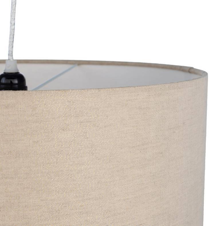 white cotton fabric shade drum pendant light