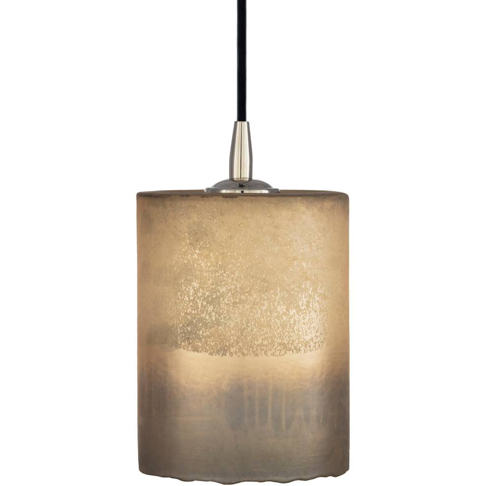 Modern Nickel & Frosted Glass Mini Tube Pendant Light