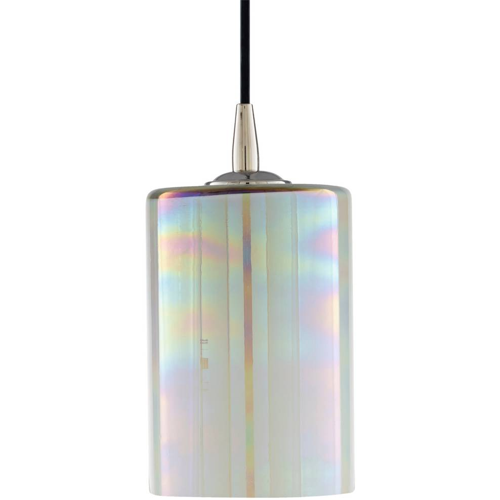 pearlized glass cylinder pendant light