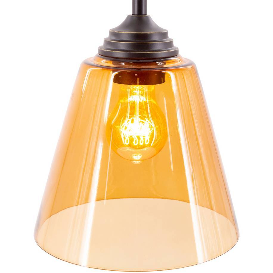 amber glass shade nordic cone pendant light