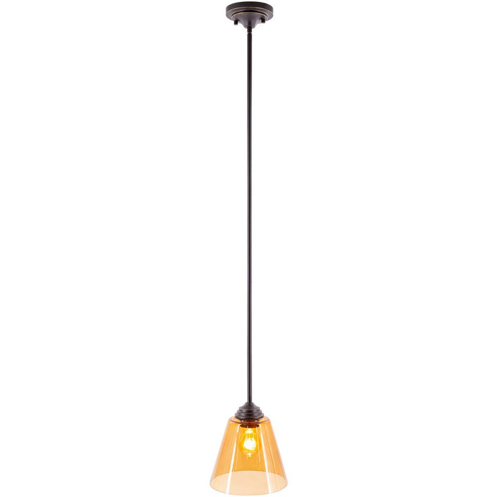 contemporary nordic amber tinted glass shade pendant light