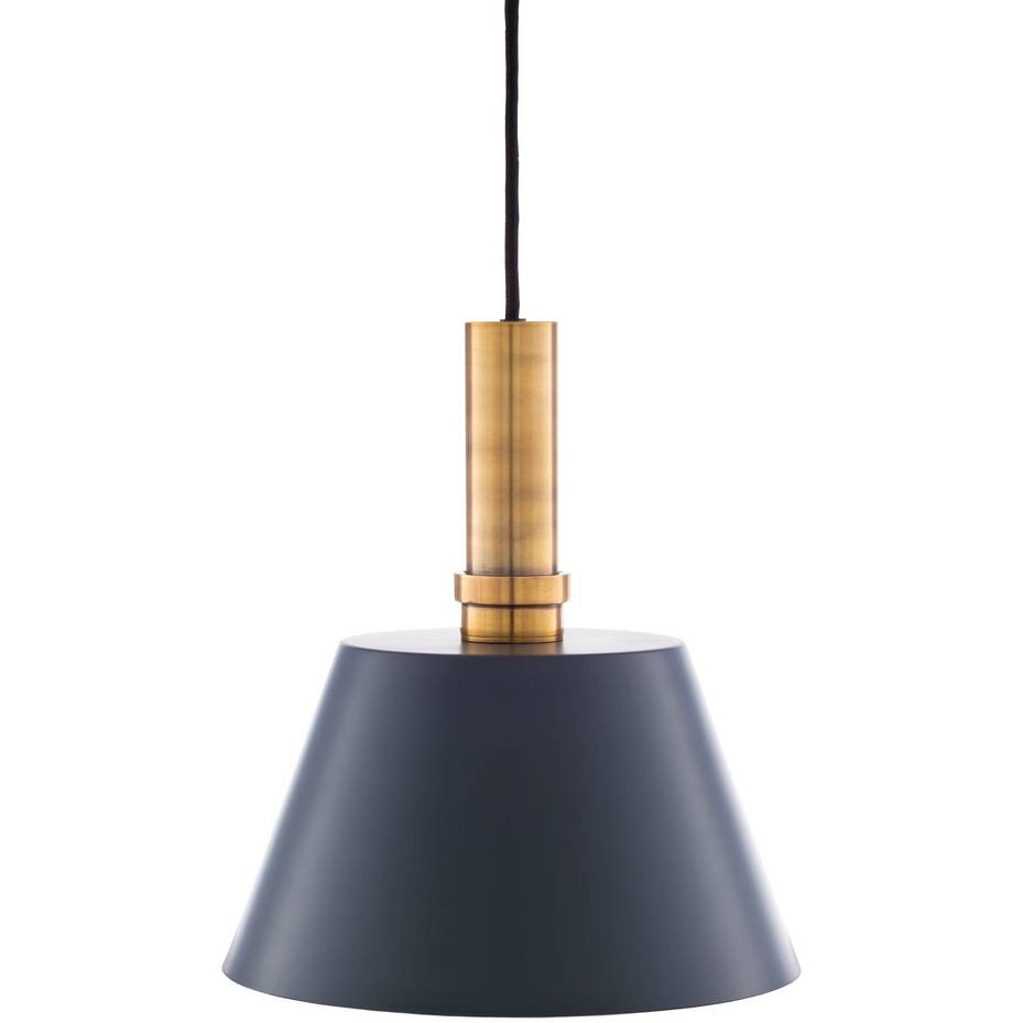 brass accented modern nordic black cone pendant light