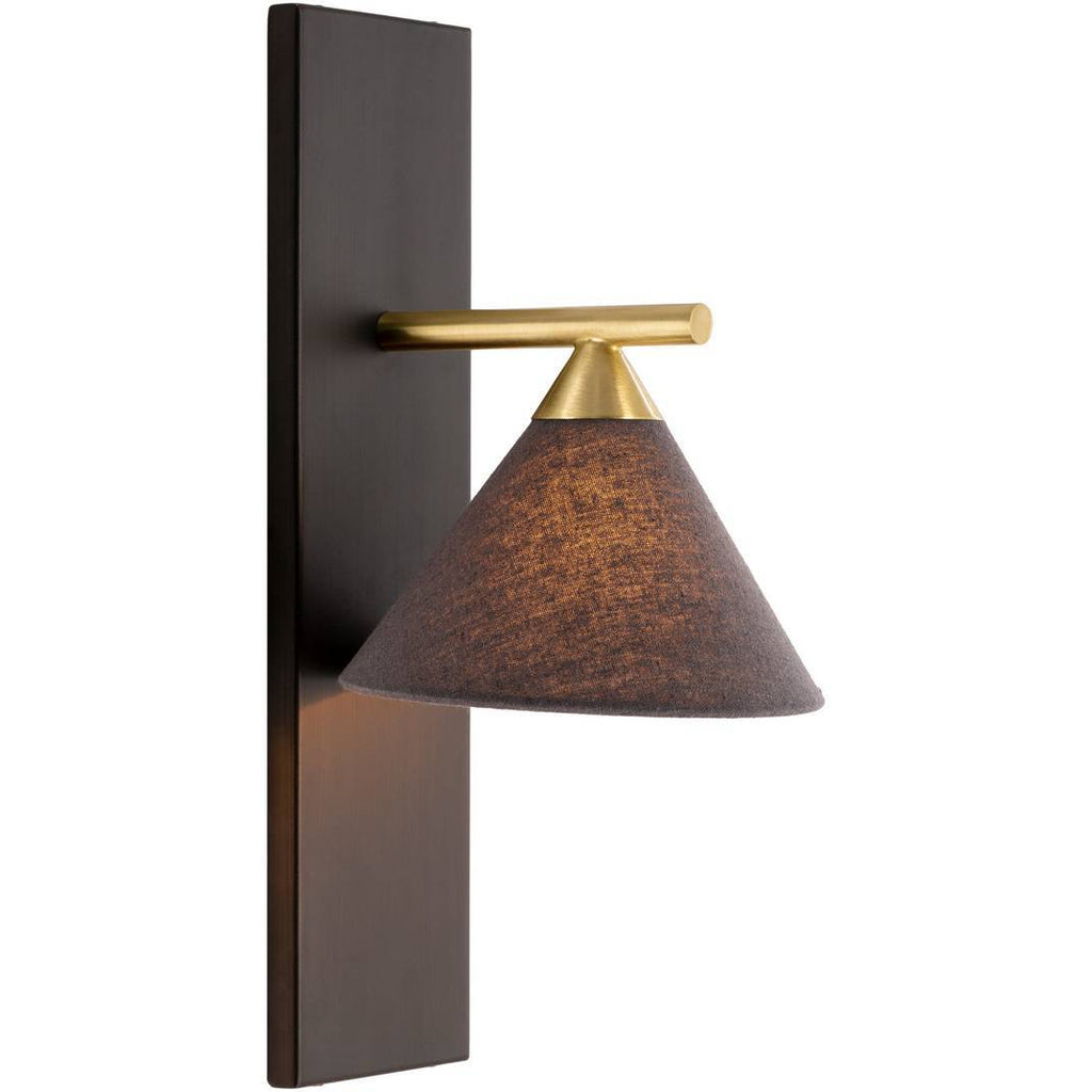 modern nordic fixed gold arm black wall sconce