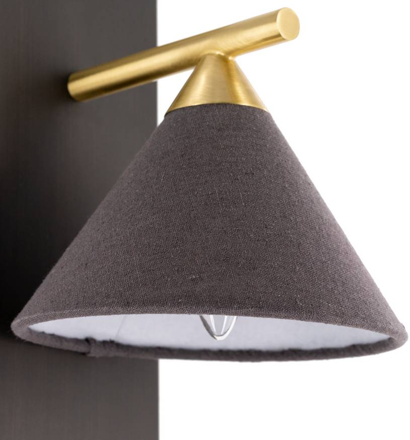 fabric black shade nordic cone wall sconce