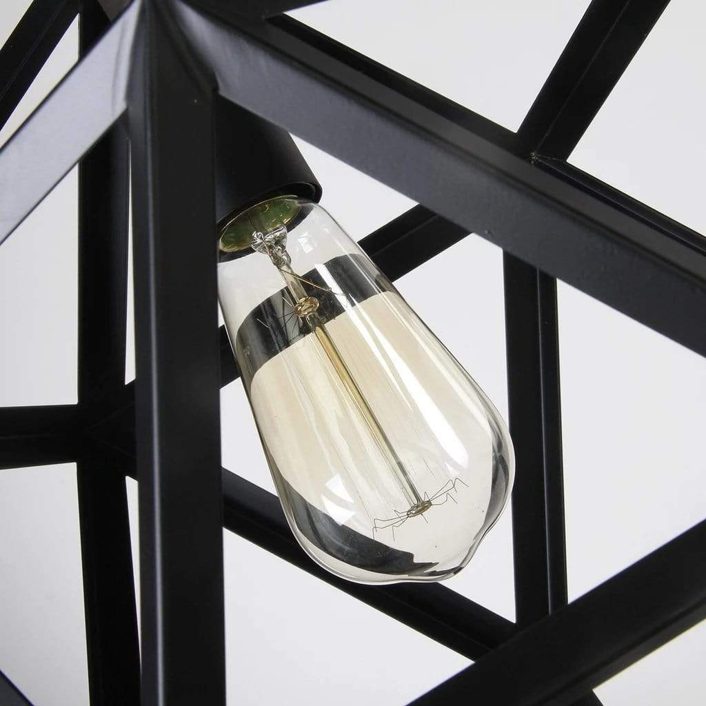 modern pendant light black metal