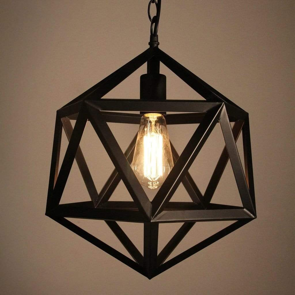geometric sphere pendant light