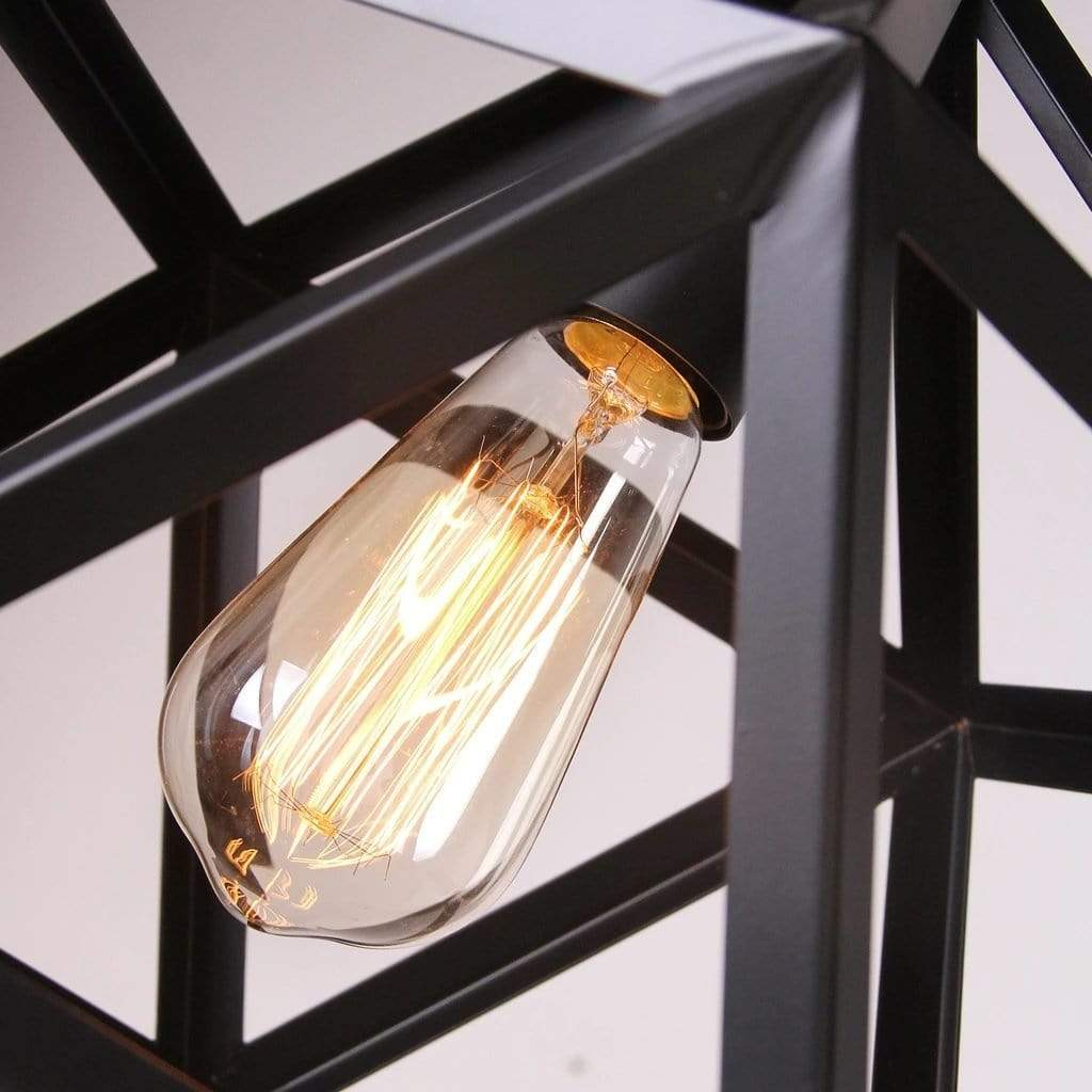 black globe pendant light