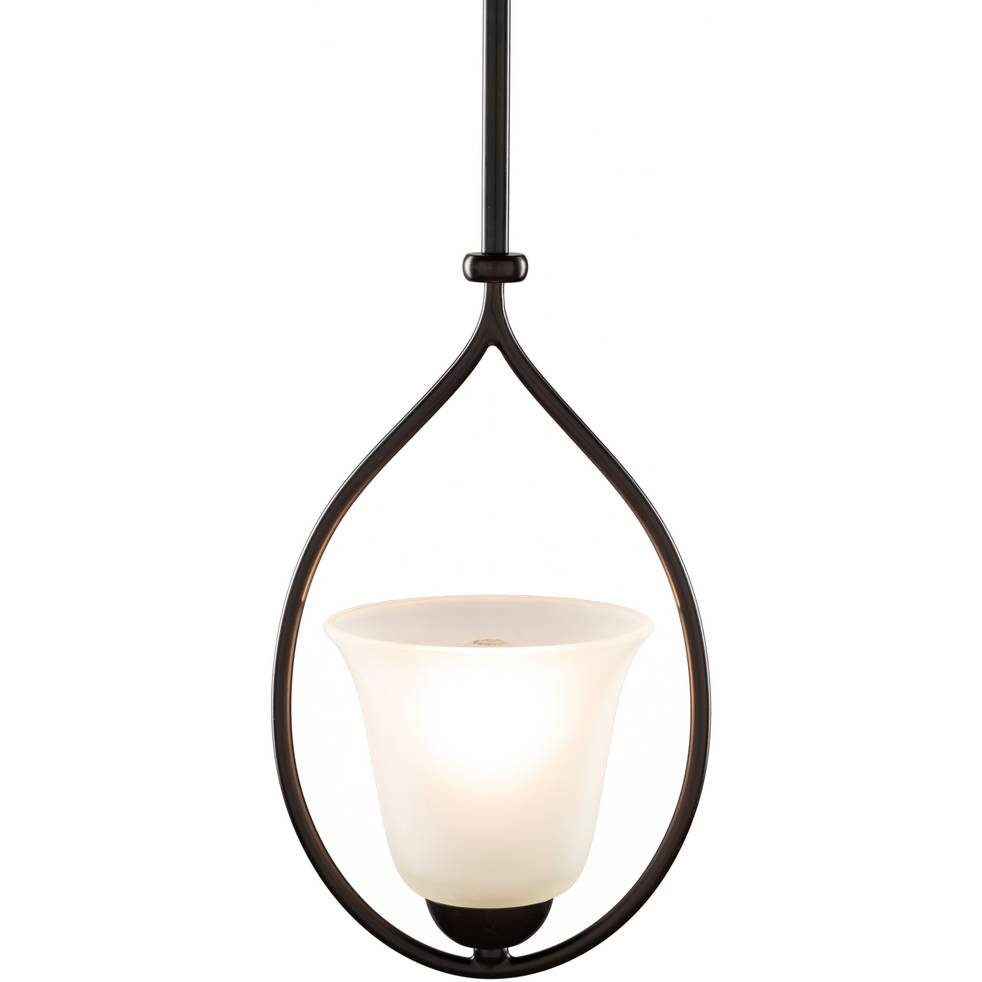 white frosted glass vintage pendant light