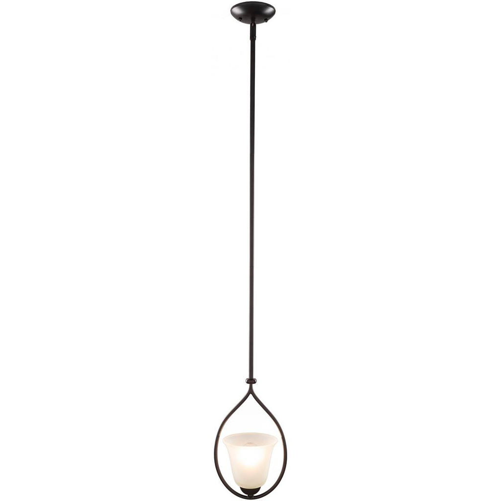 vintage white frosted glass black pendant light