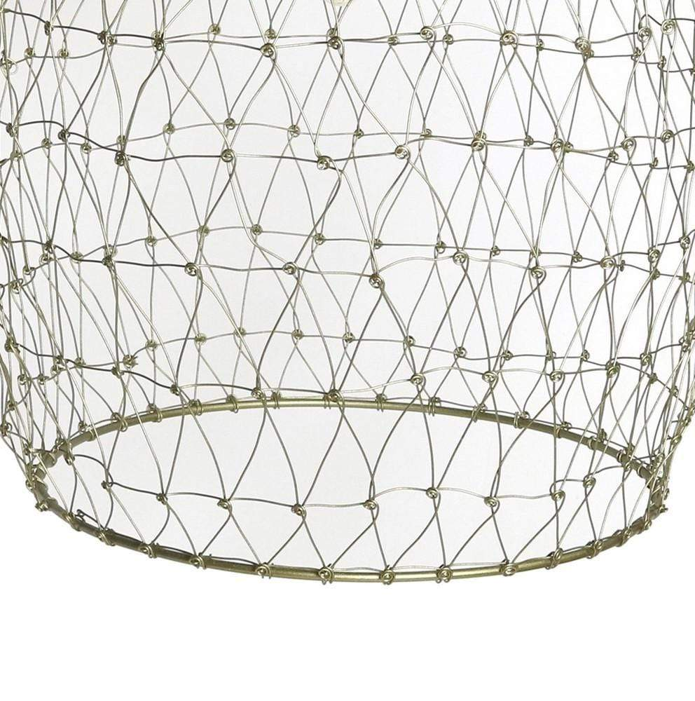 brass metal cage pendant light