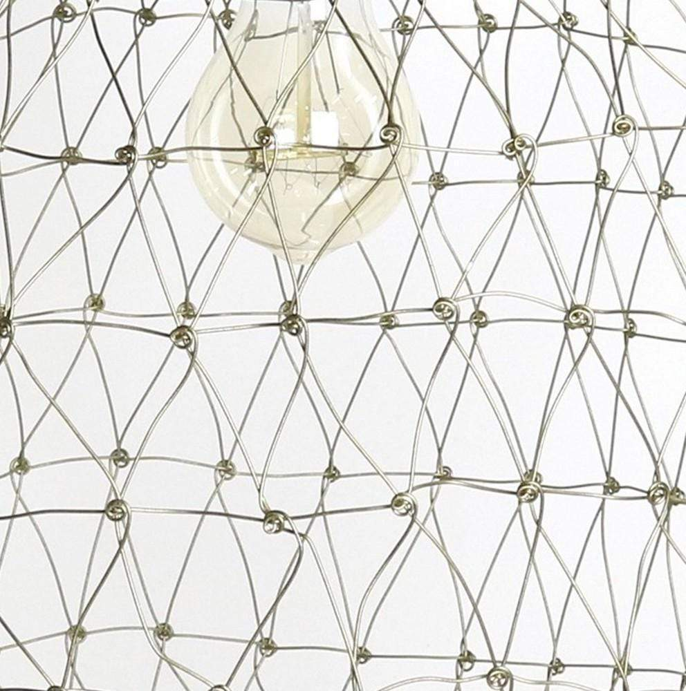 brass wire cage pendant light
