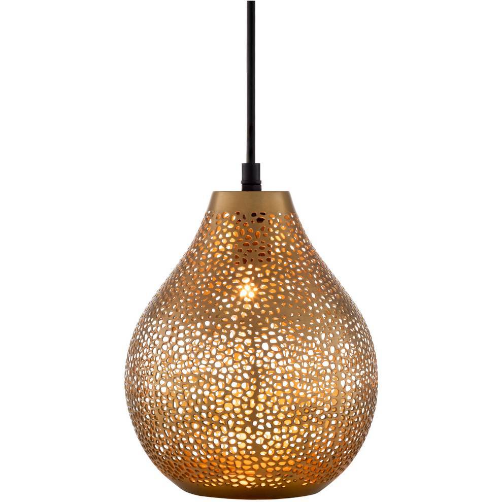 Vintage Gold Mini Teardrop Pendant Light
