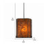 rectangle vintage pendant light