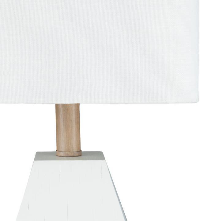 "white rectangle shade modern 17"" table lamp"