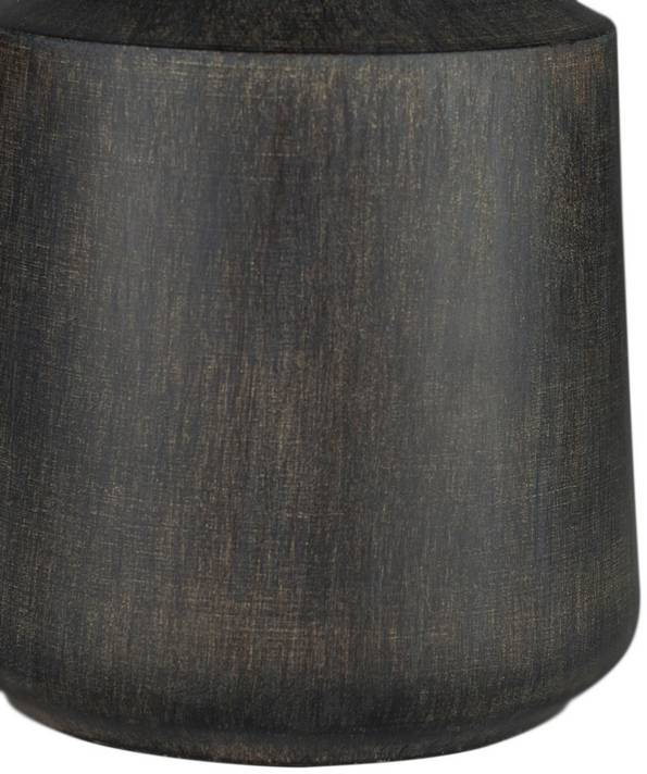 "18"" table lamp with black finished wood base"