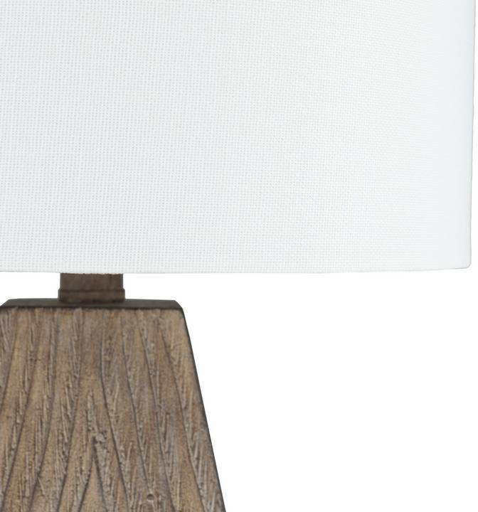 "white drum linen shade 18"" table lamp"