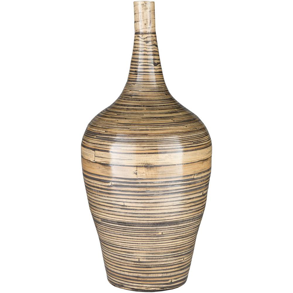 "28"" Natural Finish Tall Bamboo Floor Vase"