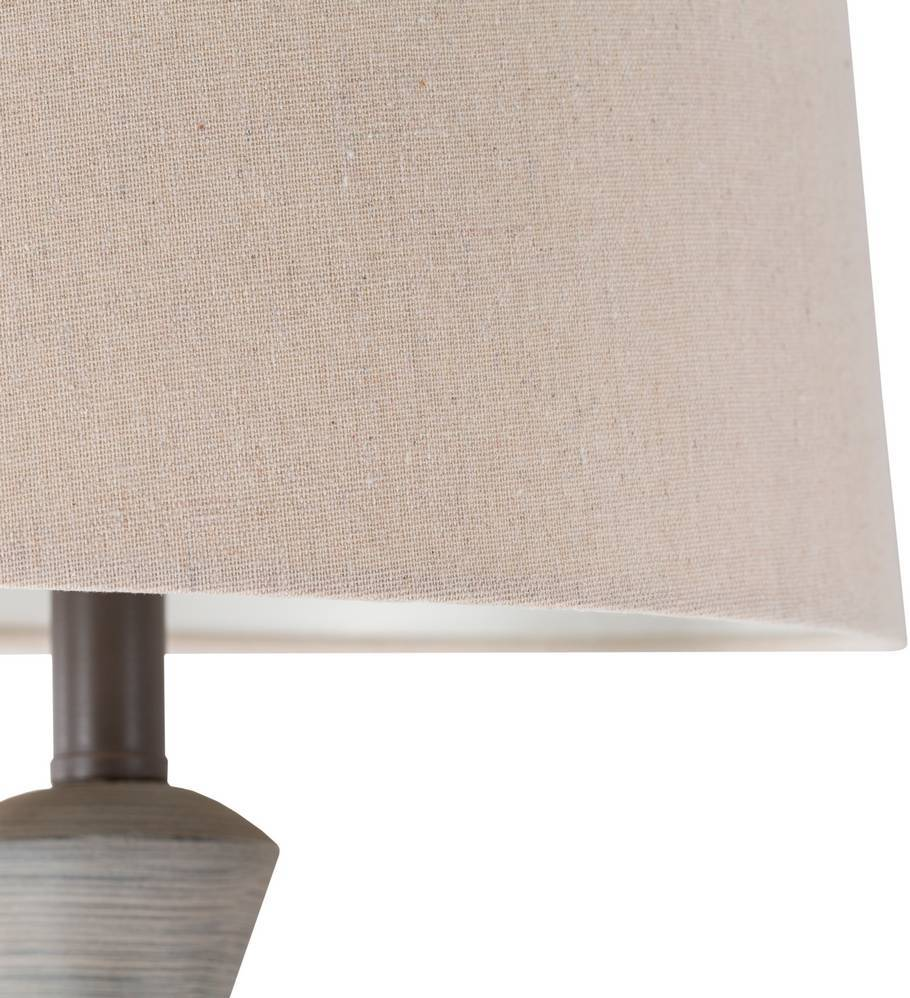 beige empire linen shade table lamp