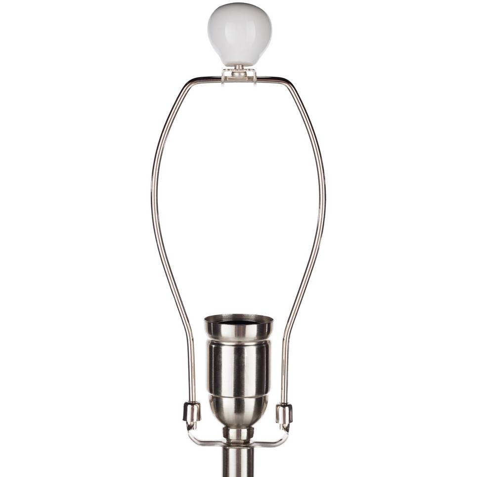 modern white table lamp with white ivory shade