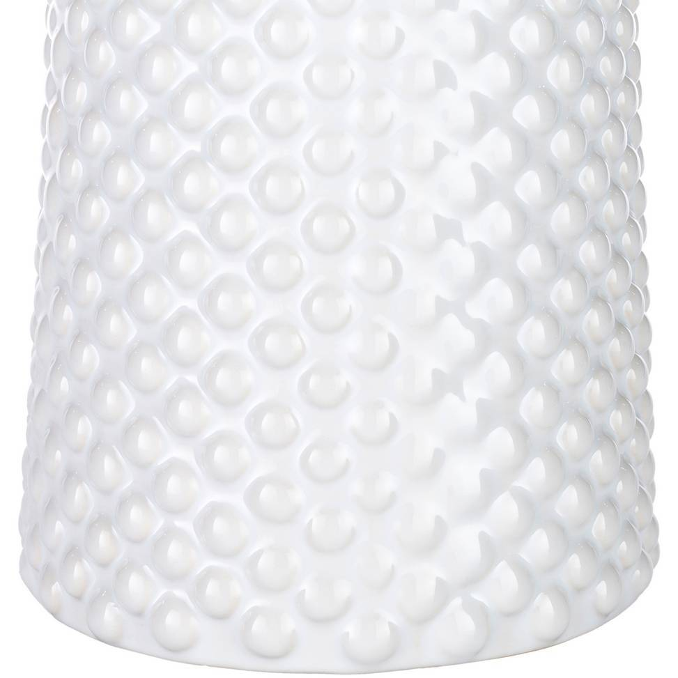 Modern White Table Lamp with White Shade
