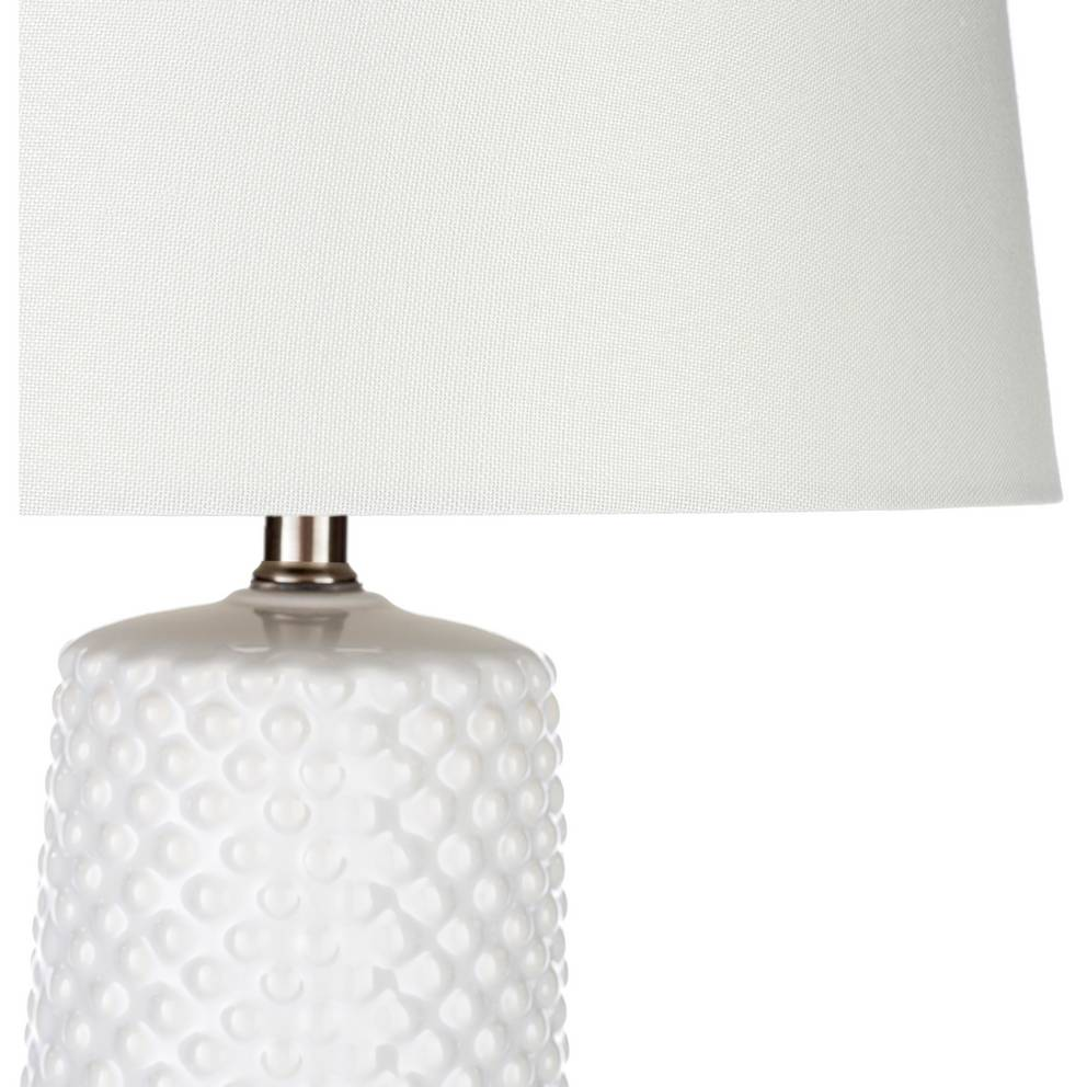 "29"" Tall Modern White Table Lamp with White Shade"