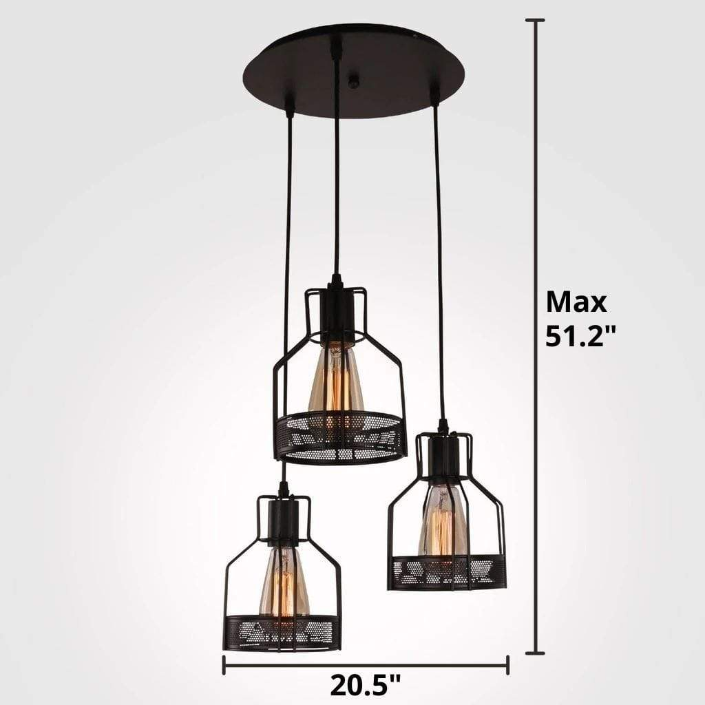 black metal industrial pendant light