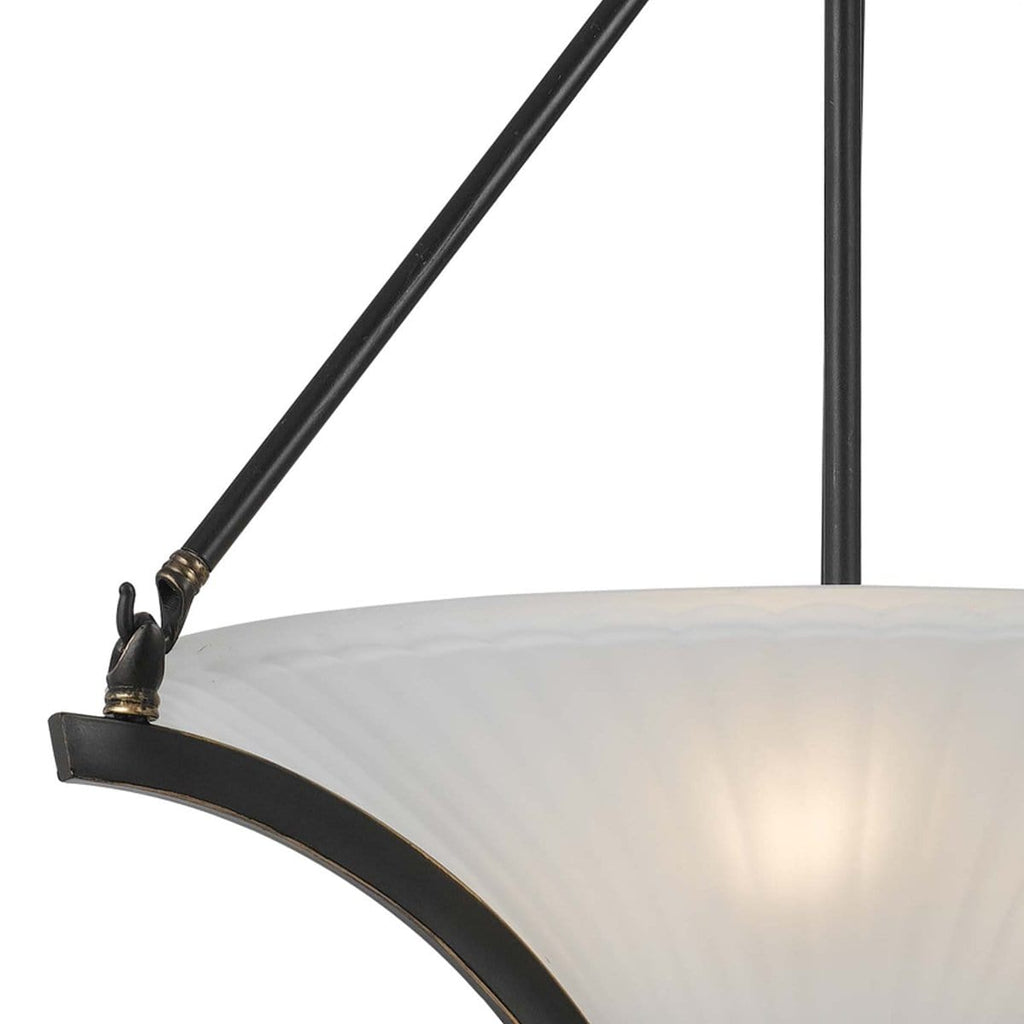 white frosted glass pendant light