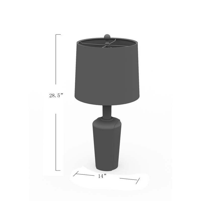 tan shade table lamp
