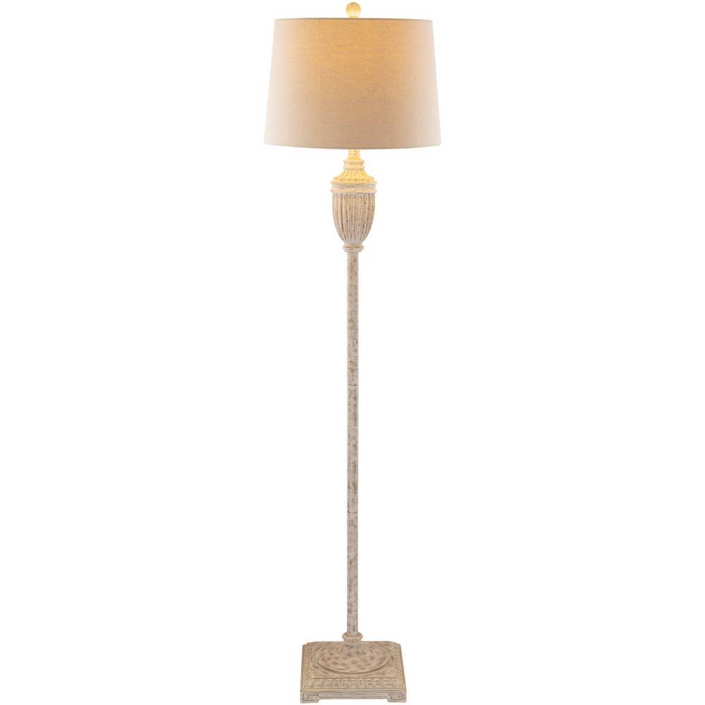 "59"" Rustic Farmhouse Weathered Gray Floor Lamp"