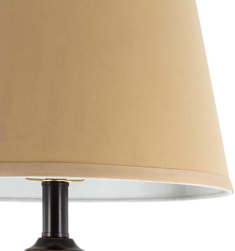 "tan shade on antique 60"" oil rubbed bronze floor lamp"