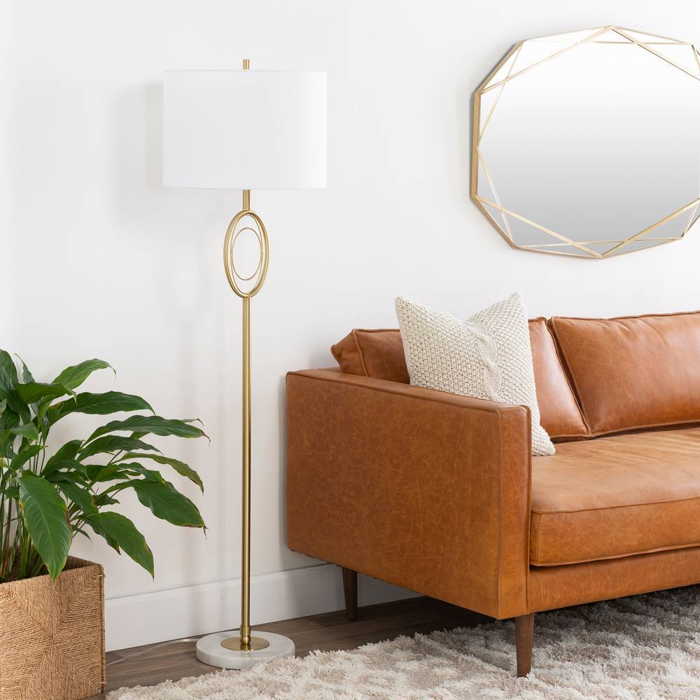 brass floor lamp marble base