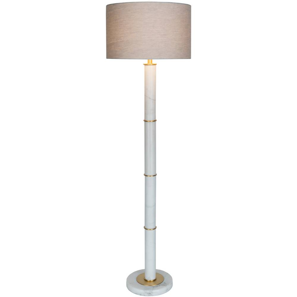 white marble floor lamp modern