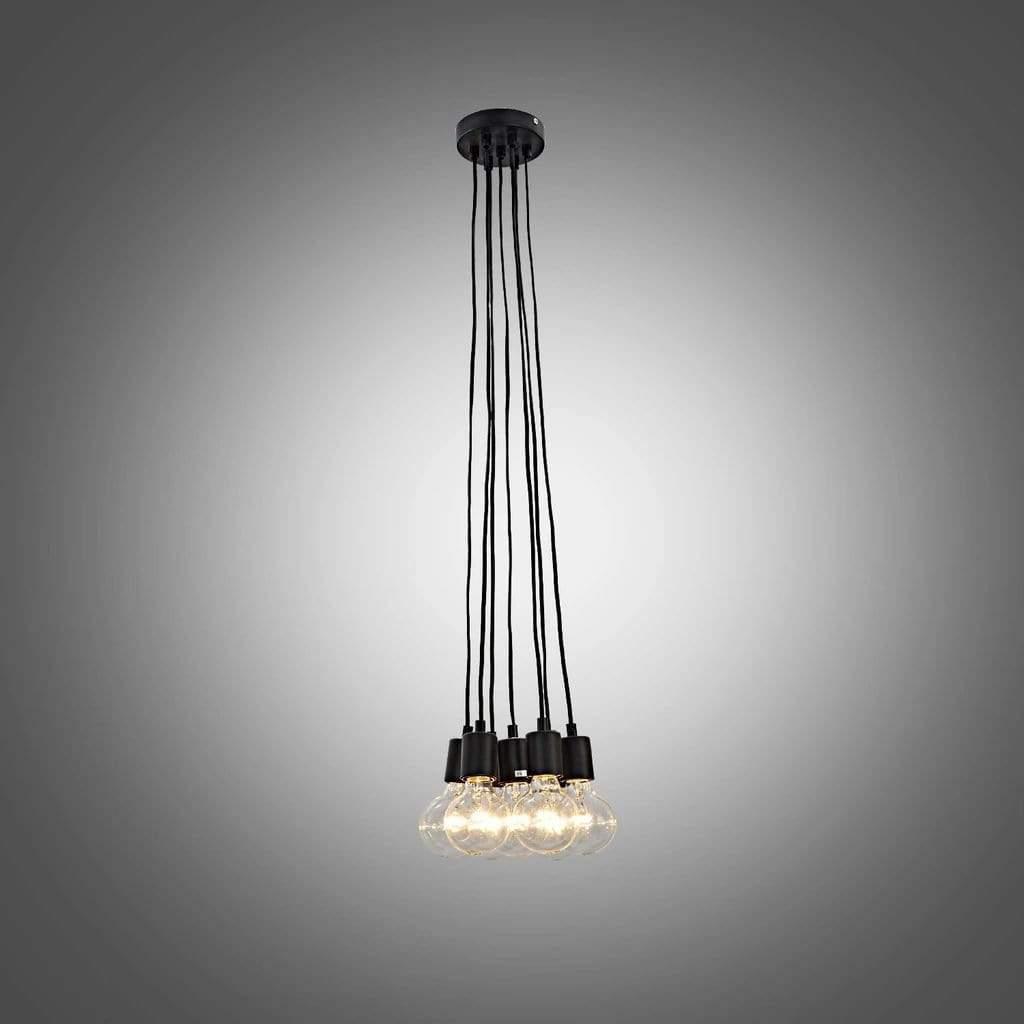 industrial hanging bulbs pendant light cluster