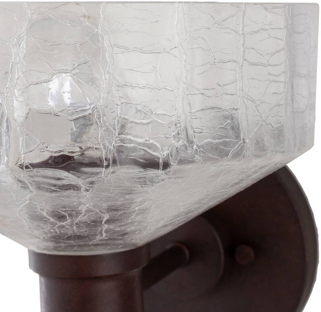 painted glass bowl wall sconce