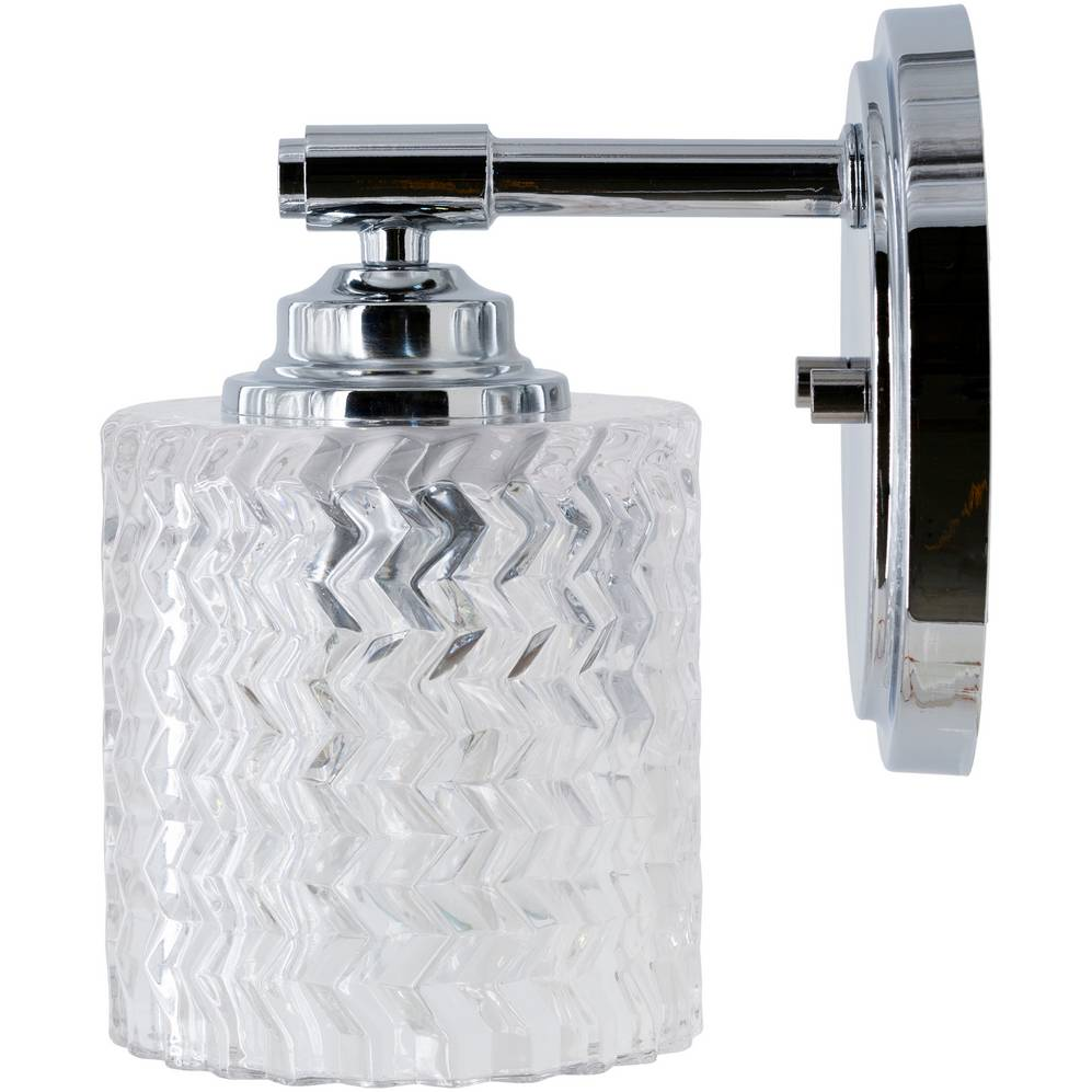 textured glass drum sconce