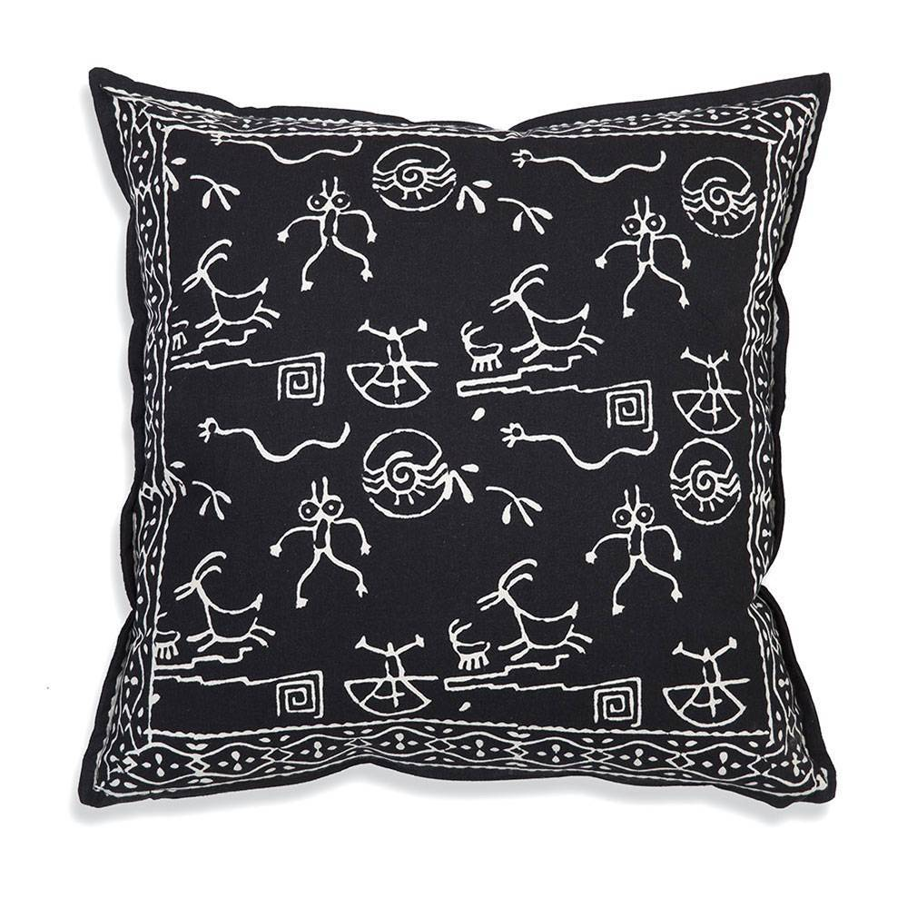 Black & White Chakra 100% Cotton Throw Pillow