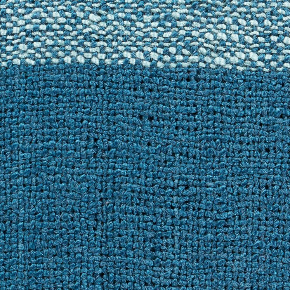 bright blue checkerboard throw blanket with fringe