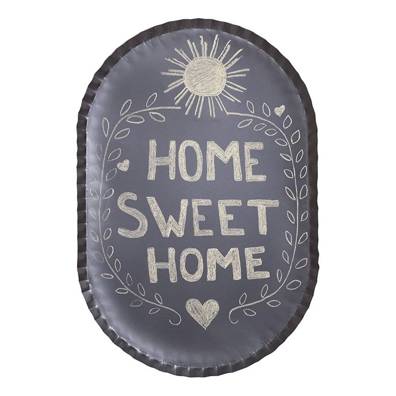 Decorative Black Vintage Crimped Tin Metal Oval Chalkboard
