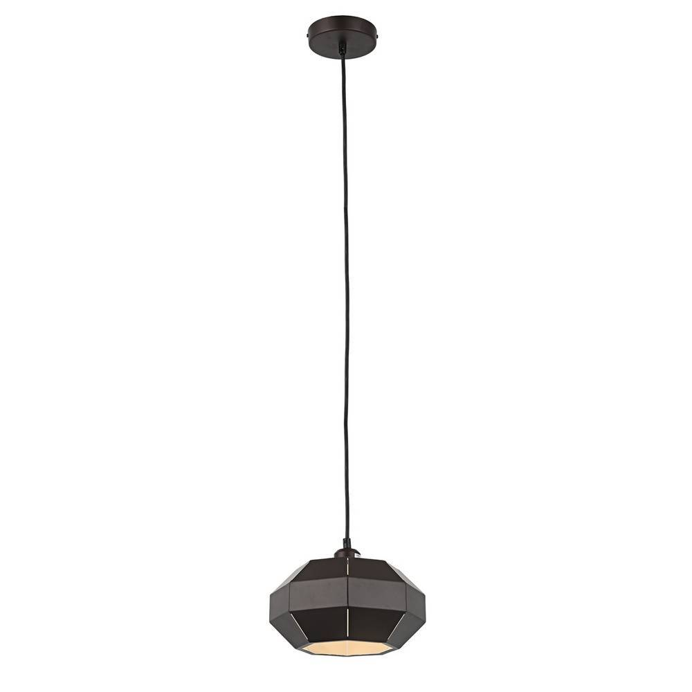 Industrial Modern Brown & White Geometric Dome Pendant Lighting