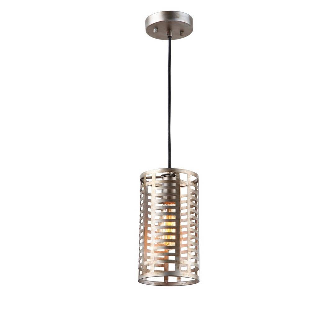 Industrial Modern Chrome Cage Cylinder Mini Pendant Lighting
