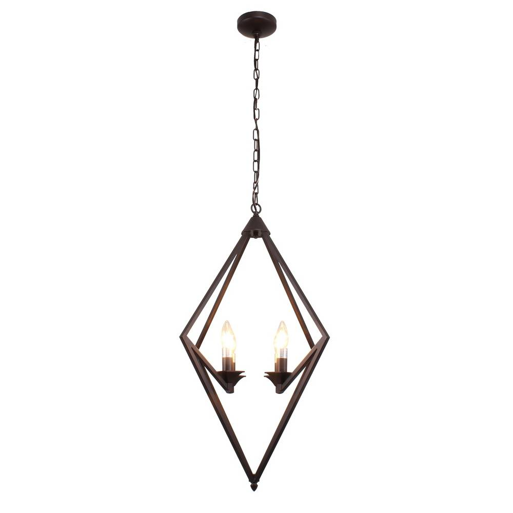Industrial Modern Oil Rubbed Bronze Geometric Chandelier for Bedroom