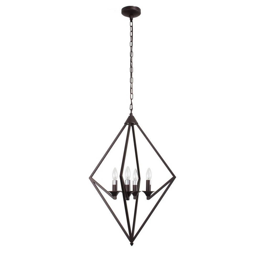 Industrial Modern Oil Rubbed Bronze Geometric Chandelier for Dining Room