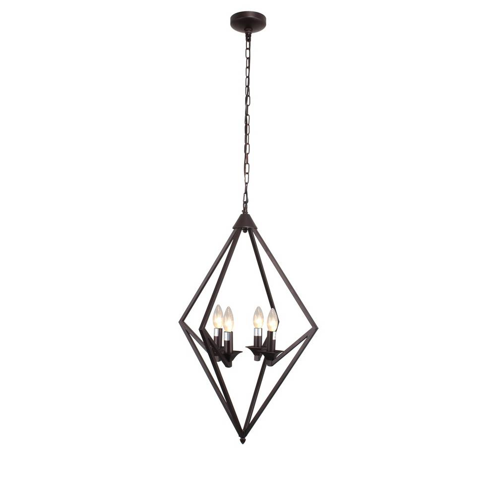 Industrial Modern Oil Rubbed Bronze Geometric Pendant Light