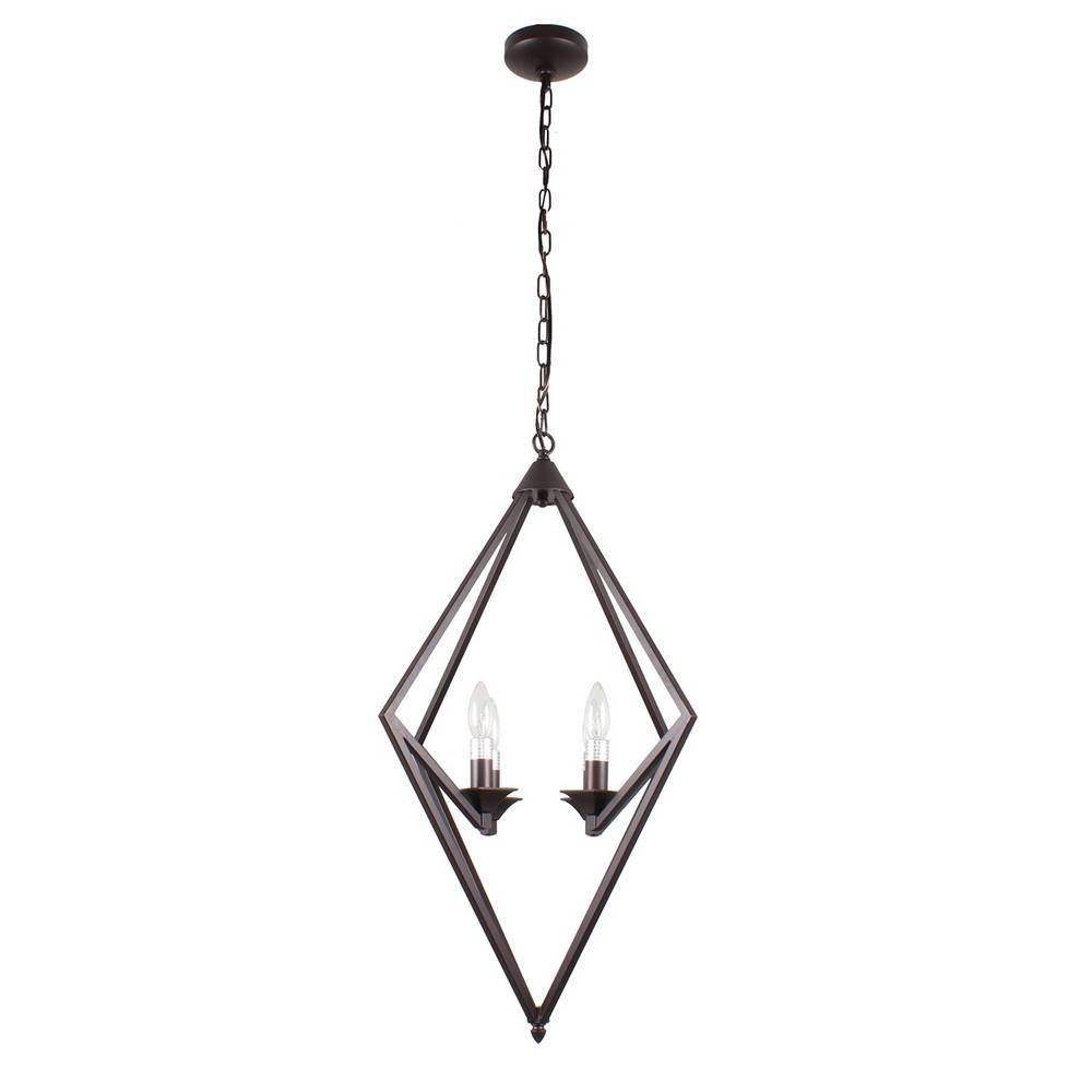 Industrial Modern Oil Rubbed Bronze Geometric Chandelier for Kitchen
