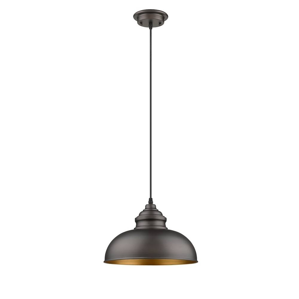 Industrial Modern Oil Rubbed Bronze Metal Dome Pendant Light
