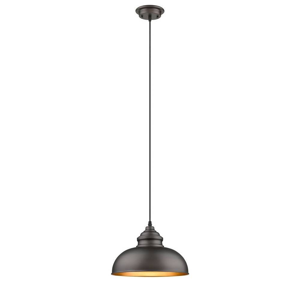 Industrial Modern Oil Rubbed Bronze Metal Dome Pendant Lighting