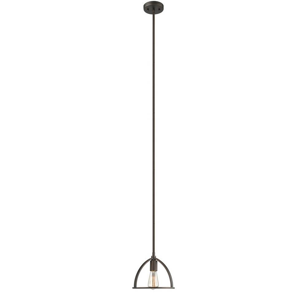 Industrial Oil Rubbed Bronze Exposed Bulb Mini Pendant Lighting