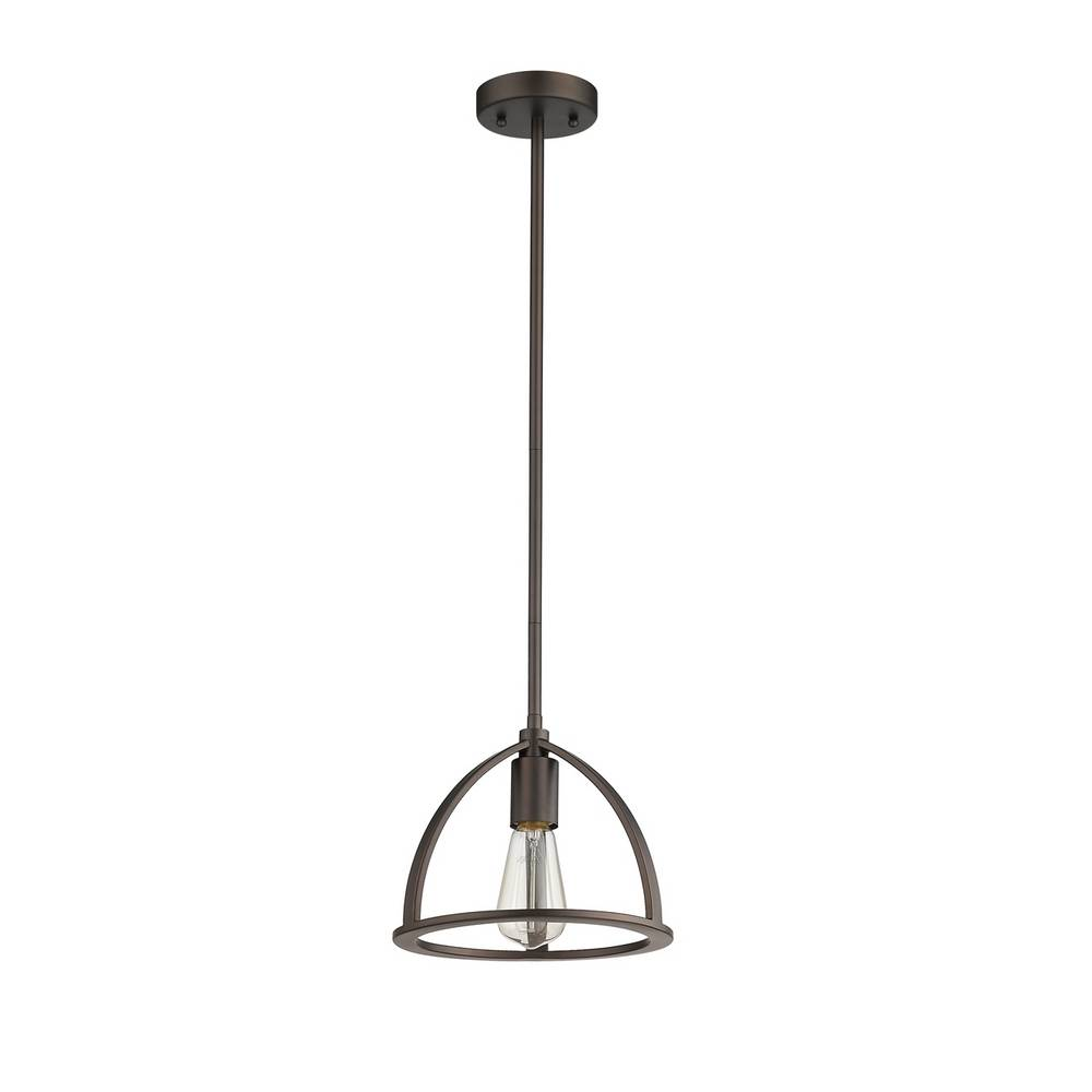Industrial Oil Rubbed Bronze Exposed Bulb Mini Hanging Light